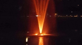 Fountain with LED Lights